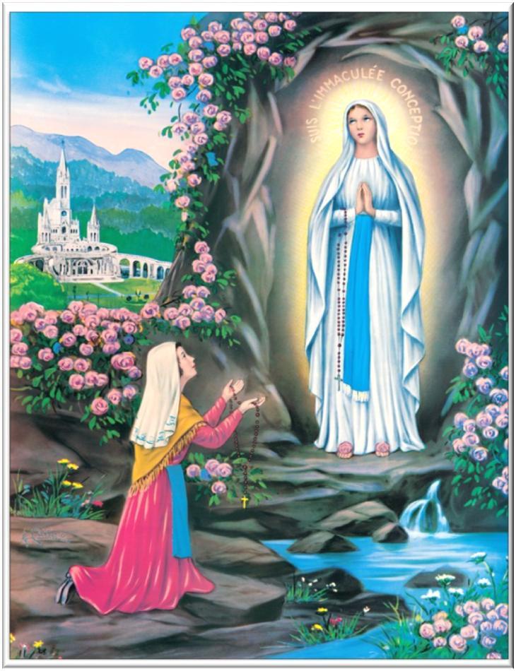 Risultati immagini per 11 febbraio madonna di lourdes